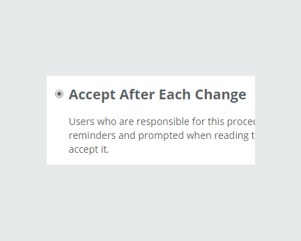 Accept After Each Change