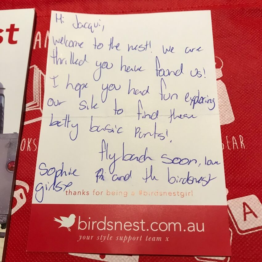 Birdsnest Unboxing - Personal Note