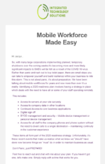 ITS - mobile workforce