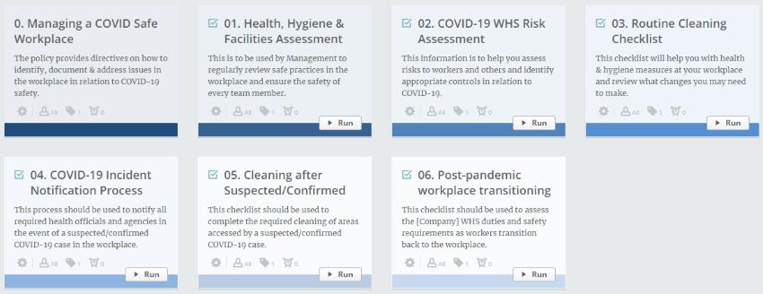 COVID Safe Process Templates